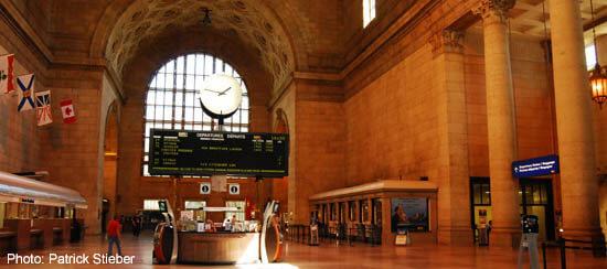 Toronto's Union Station Inside View
