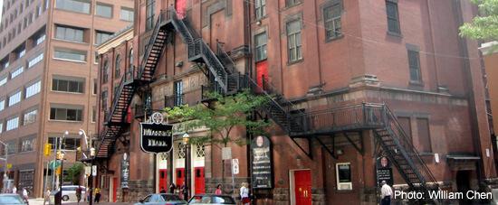 Historic Massey Hall, just off Yonge Street