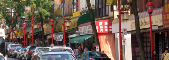 Chinatown street in Vancouver