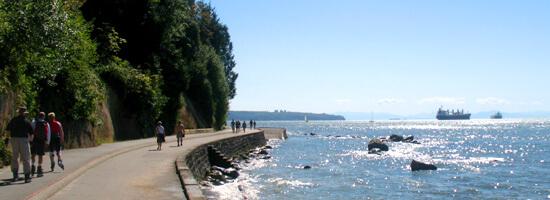 Stanley Park Seawall in Vancouver
