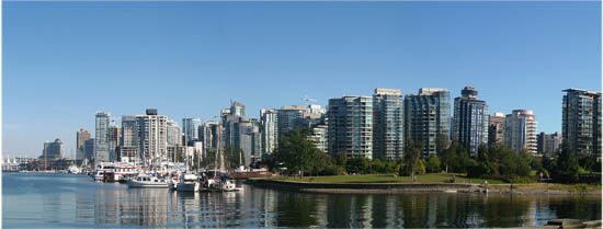 Vancouver'sStanley Park view to West End