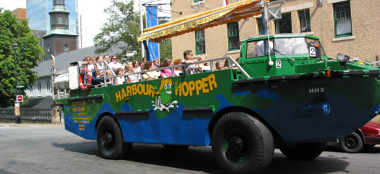 Halifax town and harbour Duck Tours
