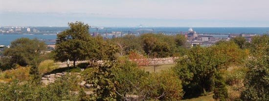 Sam Lawrence Park overlooking the Escarpment