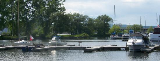 Sailboats in the Trenton marina