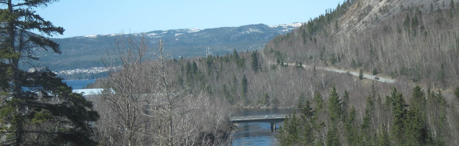 Corner Brook NL -TCH view of river -sliver