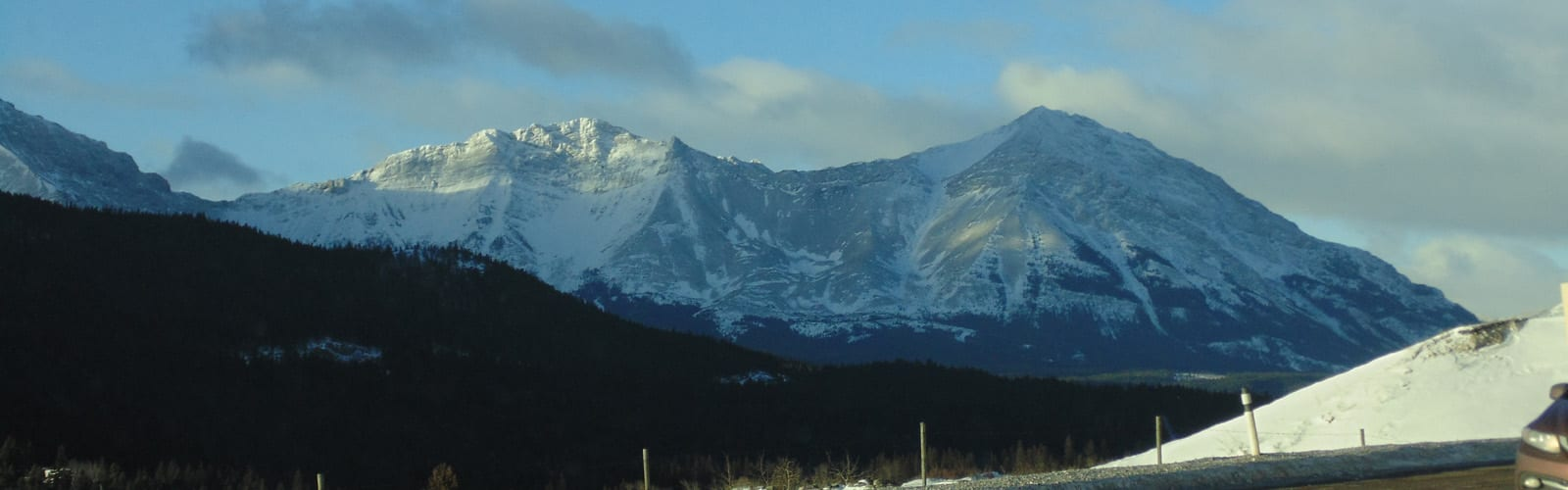 Crowsnest Pass - view of mountains just inside BC -sliver