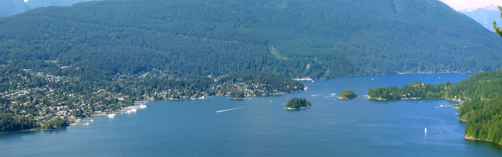 Deep Cove Indian Arm panorama from Burnaby Mountain (Mark Ruthenberg)