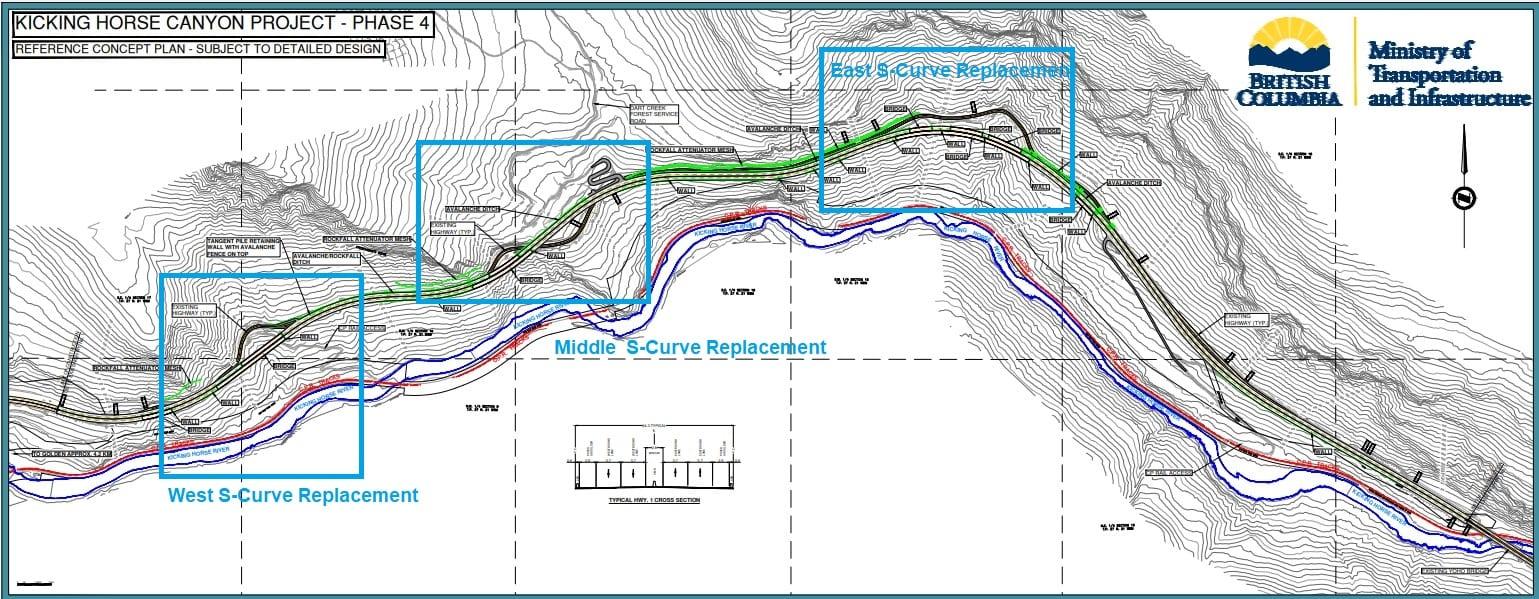 Kicking Horse Canyon Construction Plan - Phase 4