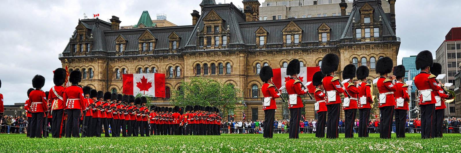 Ottawa- Parliament Hill - Changing of the Guard - (David L)-sliver