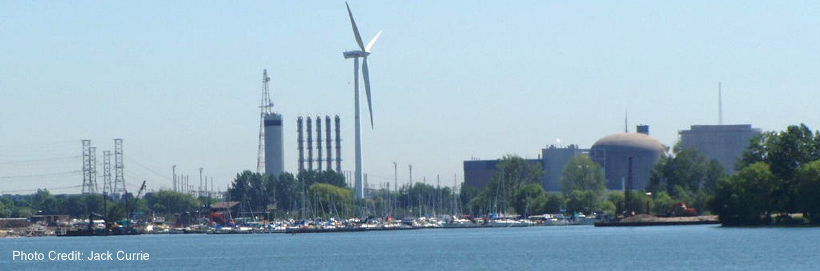 Pickering-Frenchmans Bay - Windmill with Power Plant -sliver (Jack Currie)
