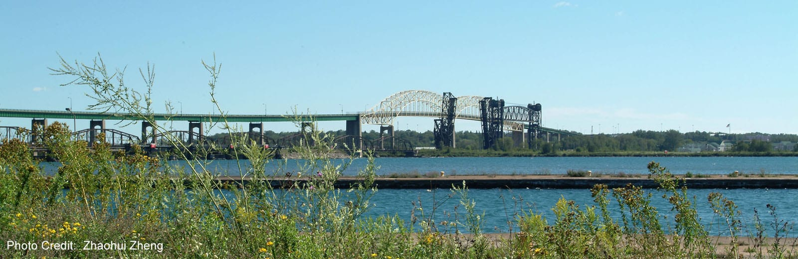 Sault Ste Marie - St.Mary's River & International Bridge-sliver (Zhaohui Zheng)