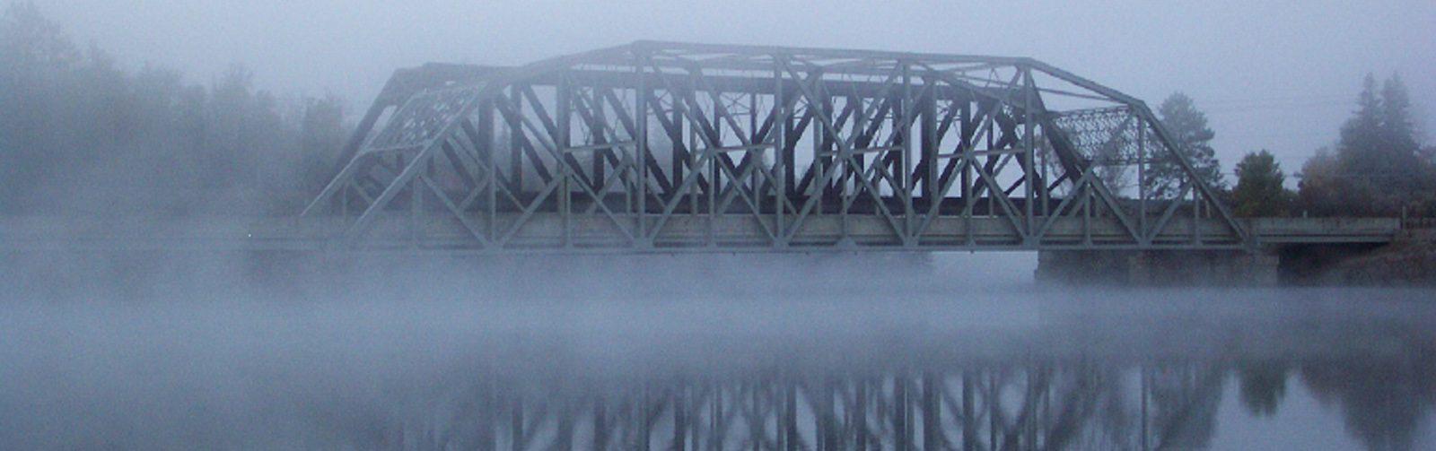 Spanish River - TCH Bridge In Fog (CoverPhoto)