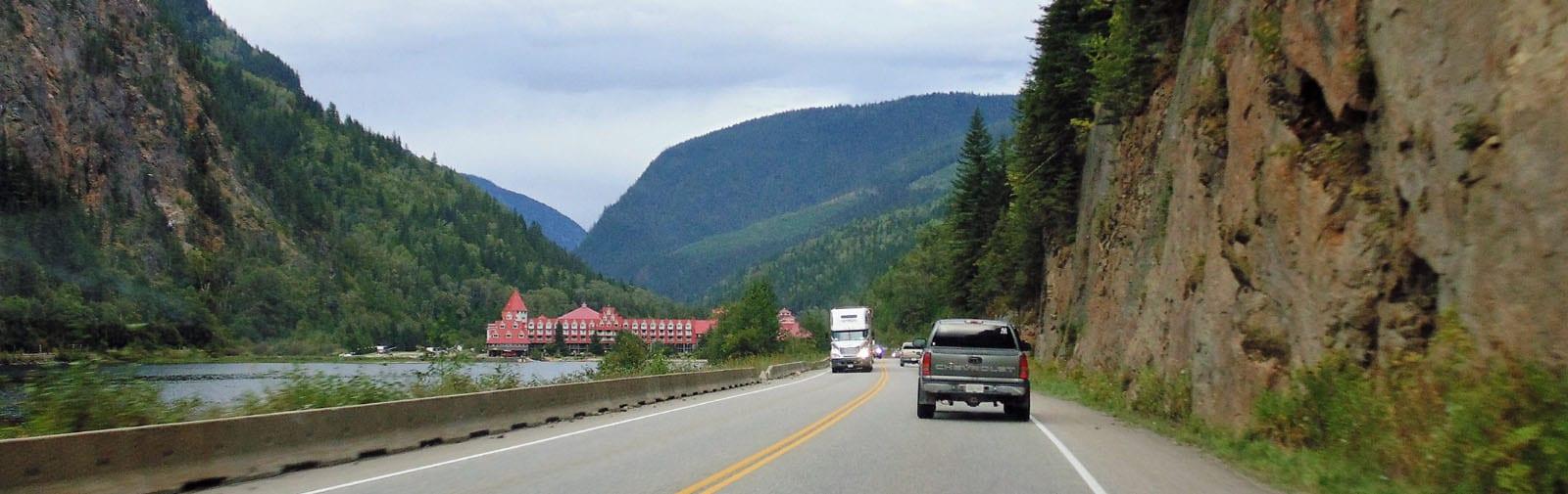 Three Valley Gap from West -sliver