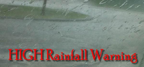 Weather-HIGH rainfall warning