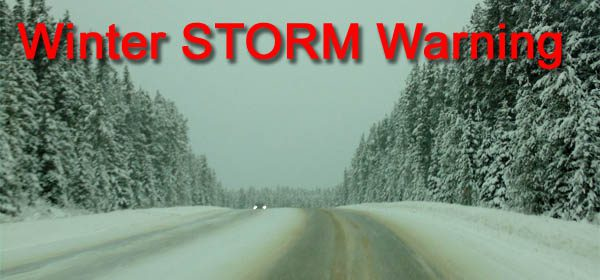 Weather-Winter STORM Warning