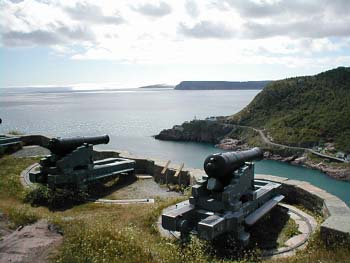 Signal Hill Cannon overlooking St John's Harbour (David Preston)