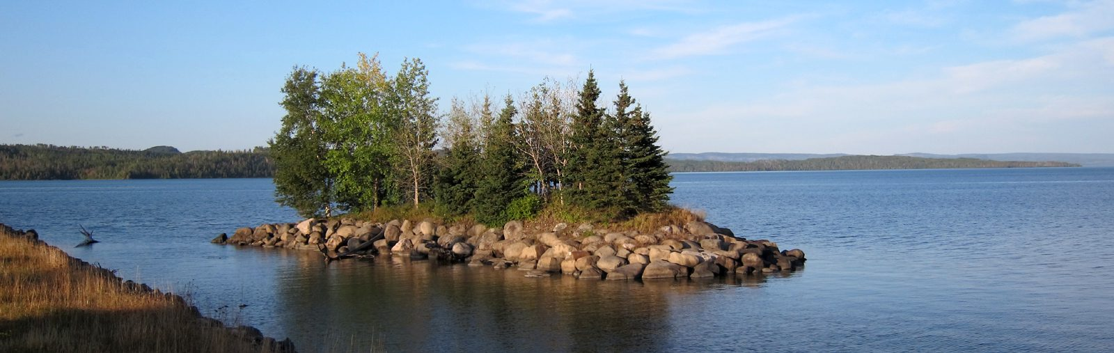 Northern Ontario Island in a lake