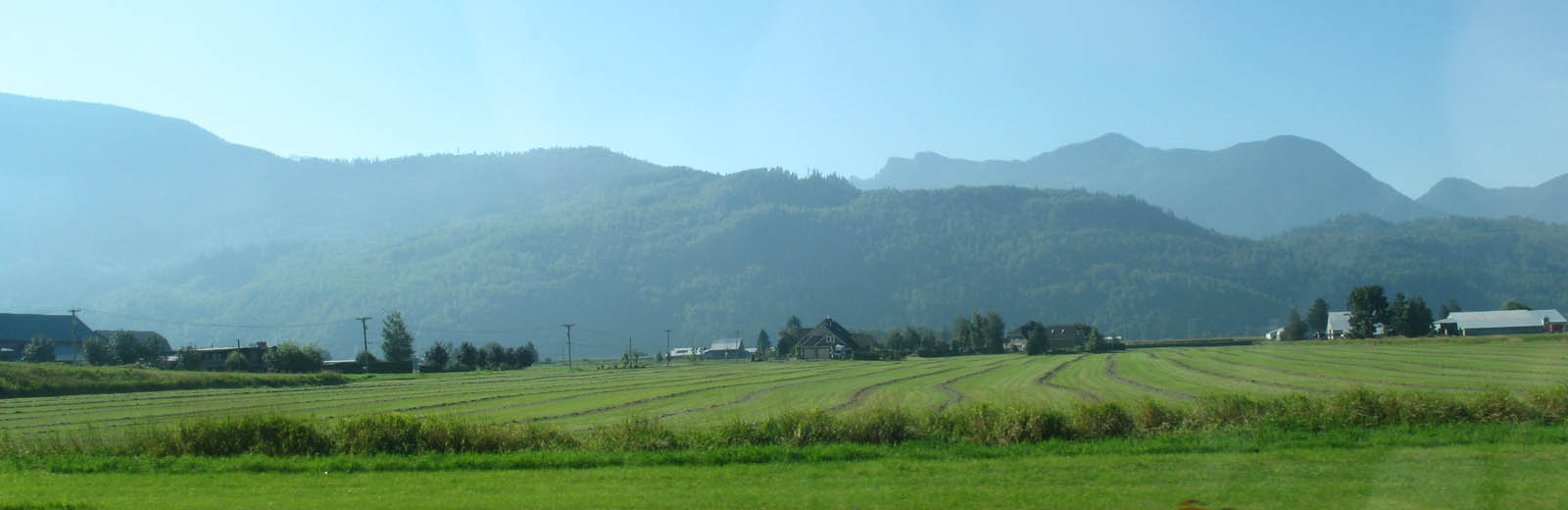 Chilliwack - Trans-Canada Highway - Farm Fields South To Mountains -sliver