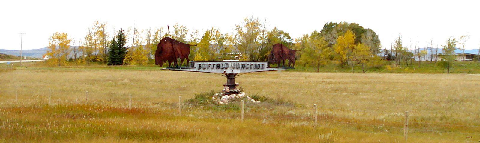 Fort MacLeod - Buffalo Junction Sign -sliver