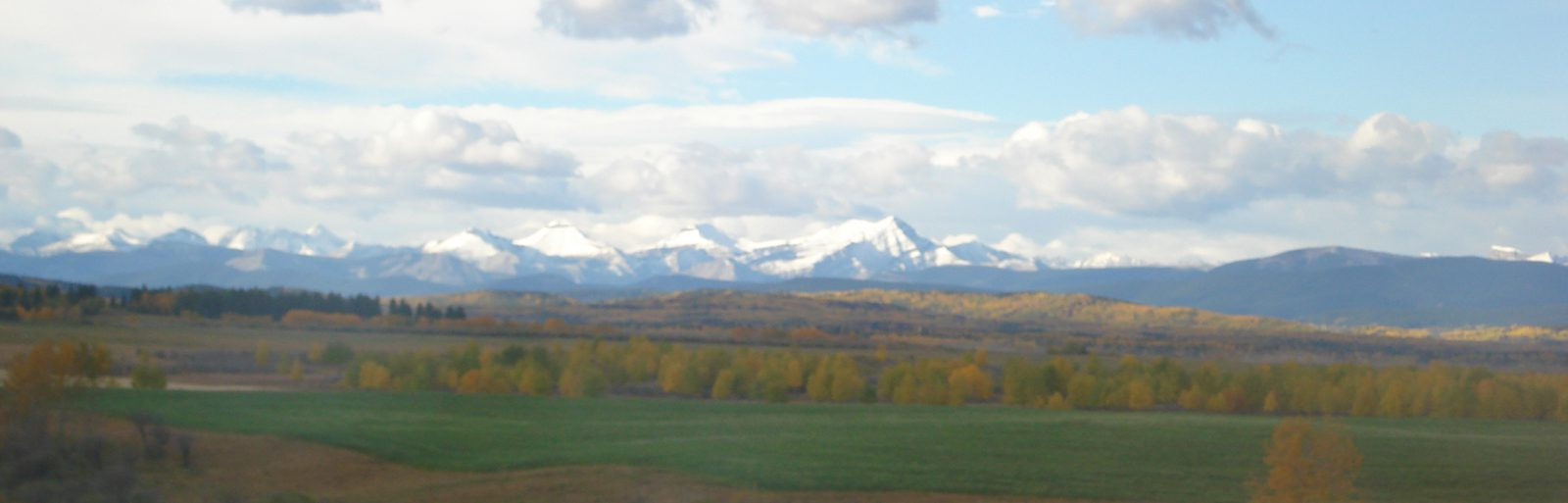Fort MacLeod - view of Mountains to the west