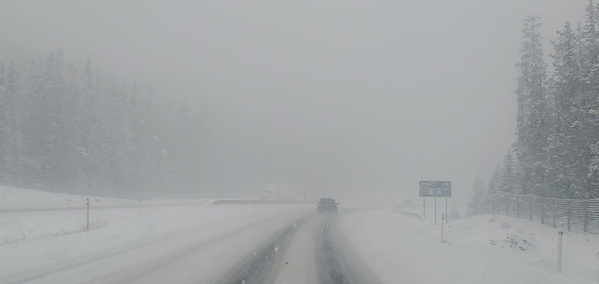 Snowstorm With Poor Visibility
