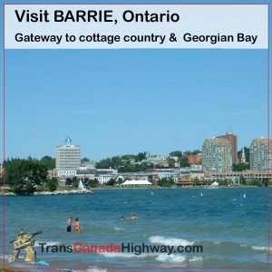 Barie, Ontario gateway to cottage country