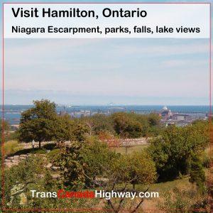 Hamilton, Ontario - Niagara Escarpment, parks, falls, lake views