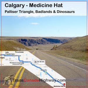 Alberta Itinerary - Calgary to Medicine Hat