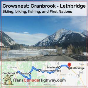 BC Itinerary - Crowsnest Route - Cranbrook-Lethbridge