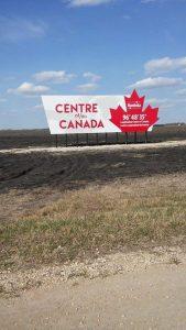 Longitudinal Center Of Canada-new sign-Trans Canada Highway