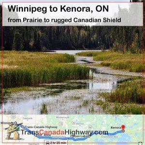 Manitoba Itinerary - Winnipeg to Kenora ON