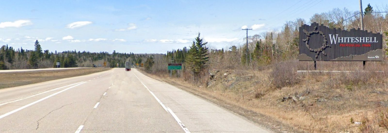 Manitoba - entering Whiteshell Provincial Park from TCH westbound