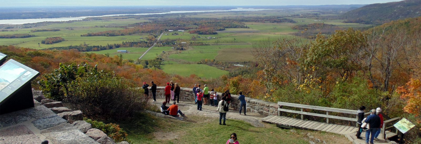 Belvedere Lookout in Gatineau Park, with view up the Ottawa Valley