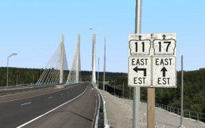 Nipigon Bridge, from the west